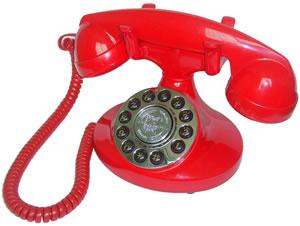 Điện thoại giả cổ Alexis 1922 màu đỏ