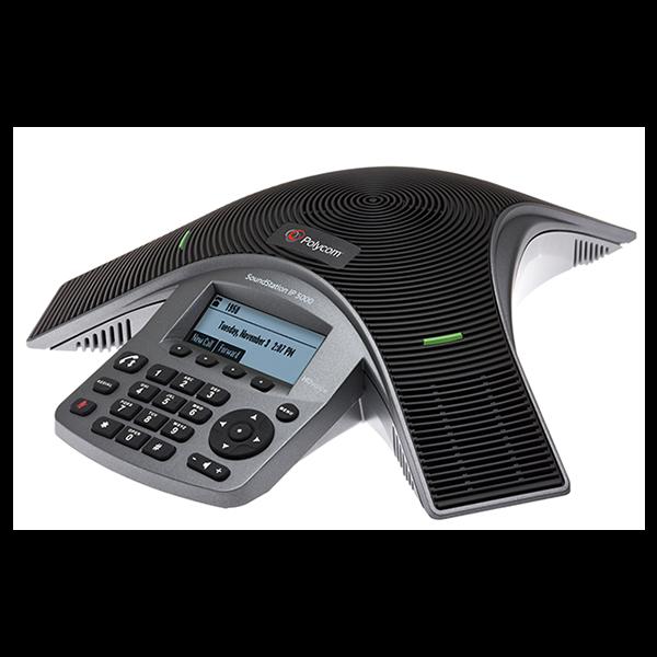 Polycom IP 5000 điện thoại hội nghị cung cấp hội nghị khá rõ ràng gọi cho phòng họp nhỏ và văn phòng điều hành